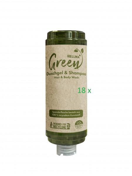 Hellma Green Duschgel & Shampoo 18 x 360ml
