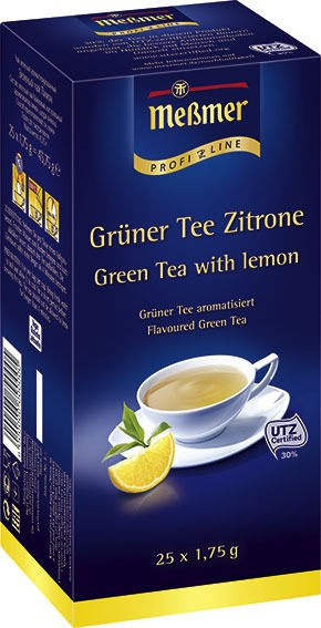 Meßmer ProfiLine Grüner Tee Zitrone 25 x 1,75g | CaterPoint.de