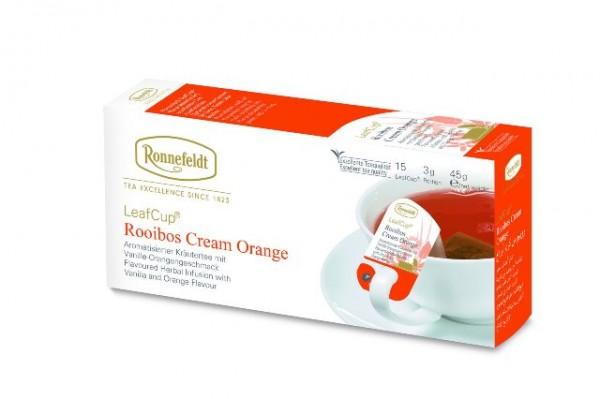 Ronnefeldt LeafCup® Rooibos Cream Orange 15 x 3,0g | CaterPoint.de
