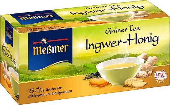Meßmer Grüner Tee Ingwer-Honig 25 x 1.75g