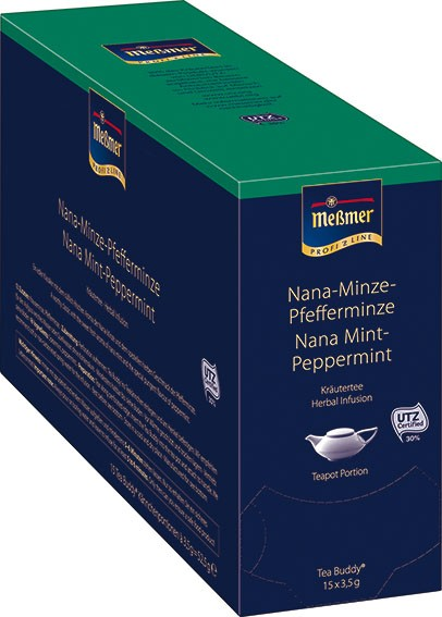 MEßMER ProfiLine Nana Minze-Pfefferminze 15x3,50g Tea Buddy | CaterPoint.de