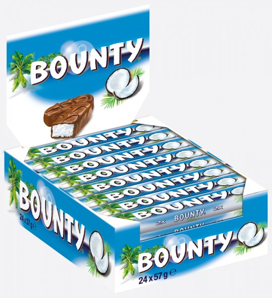 Bounty® 24 x 57g Thekendisplay