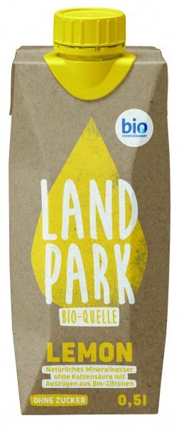 Landpark Lemon Bio-Quelle Mineralwasser still 12 x 0,5l Pfandfrei | CaterPoint.de
