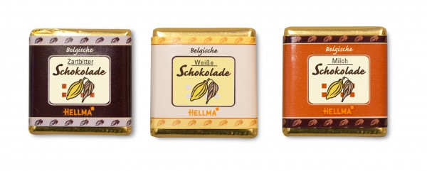 Feinste belgische Schokoladentäfelchen 165 Stück